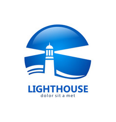lighthouse business logo vector image