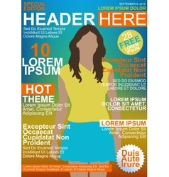 Magazine cover vector