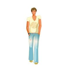 man standing vector image