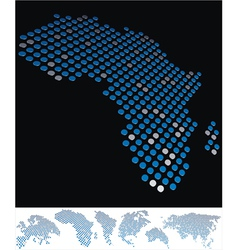 map dot africa vector image vector image