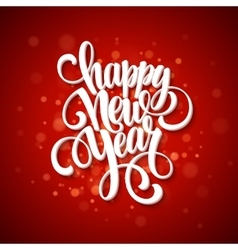 New Year greeting card Blurred background vector image vector image