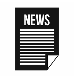 News newspaper icon simple style vector image vector image