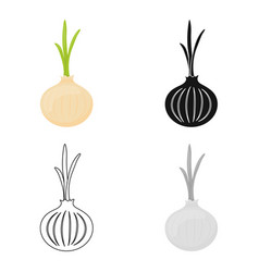 Onion icon cartoon singe vegetables icon from the vector