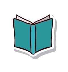 Open book and literature design vector