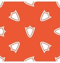 Orange shield pattern vector
