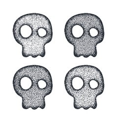 Ornament skull set vector