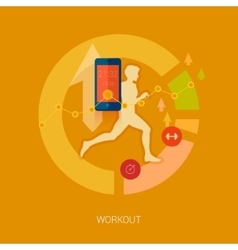 Quanitified self activity and sport mobile vector image