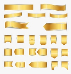 Set of gold ribbons vector image