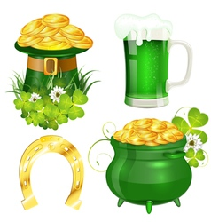 St Patrick Day Symbols vector image vector image