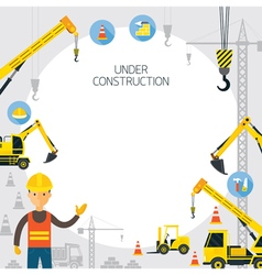 Under Construction Frame vector image vector image