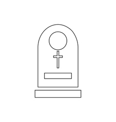 Tombstone icon outline style vector image