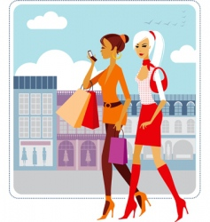 urban ladies vector image