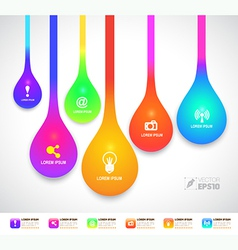 Drop color with icons vector