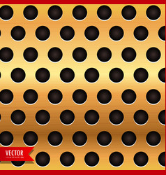golden backgroud with circular holes vector image