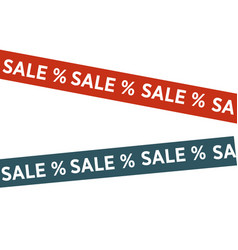 Tapes with sale words vector