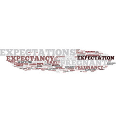 Expectancy word cloud concept vector