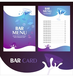 menu bar card vector image