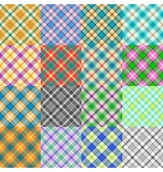Fantasy tartan patterns vector