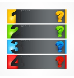 Question mark template vector