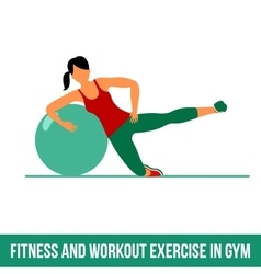 Aerobic icons ball exercise vector