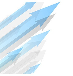 Background design with transparent blue arrows vector image
