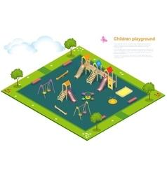 Children playground flat 3d isometric vector