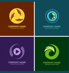 circle media logos vector image