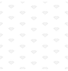 Diamond concept seamless pattern vector