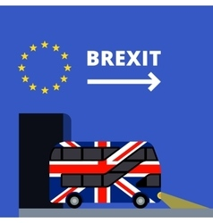 Double-decker bus painted UK flag brexit vector image vector image