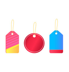 Hanging empty stickers with place for text vector