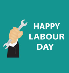 Labour day poster vector