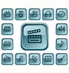 Multimedia buttons vector
