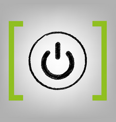 On off switch sign black scribble icon in vector