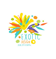 original hand drawn exotic logo template vector image vector image