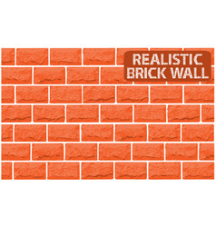 Realistic texture of orange brick wall vector