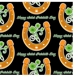 seamless stpatrick s day background vector image