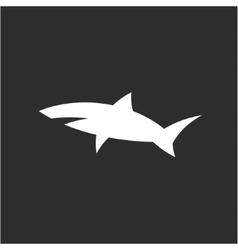Shark icon sign in monochrome modern logo design vector image