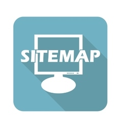 Sitemap square icon vector