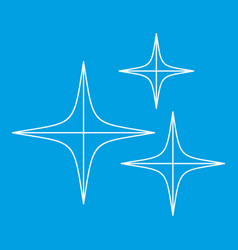 Stars icon outline style vector