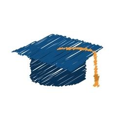 Student graduation hat vector