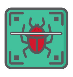 Virus scan colorful line icon security antivurus vector