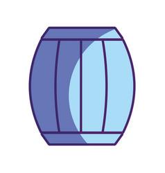 Wood barrel of wine beverage tasty vector