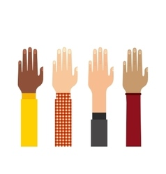 Human hand icon teamwork design graphic vector