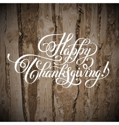 Happy thanksgiving handwritten lettering vector