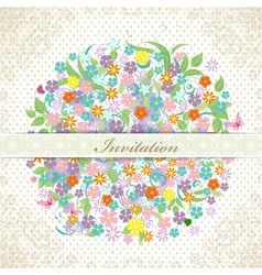 card flower9 vector image