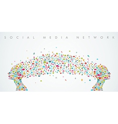 Women heads shape social media network composition vector