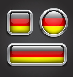 Germany flag glass buttons vector