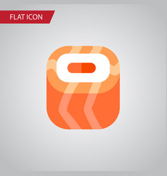 isolated salmon rolls flat icon oriental vector image