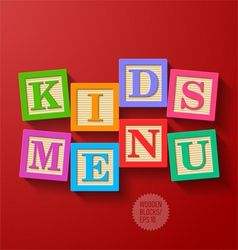 Kids menu cover vector