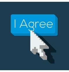 I agree button with arrow shaped cursor vector